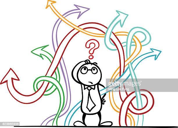 ilustrações, clipart, desenhos animados e ícones de how to make choice? - escolha
