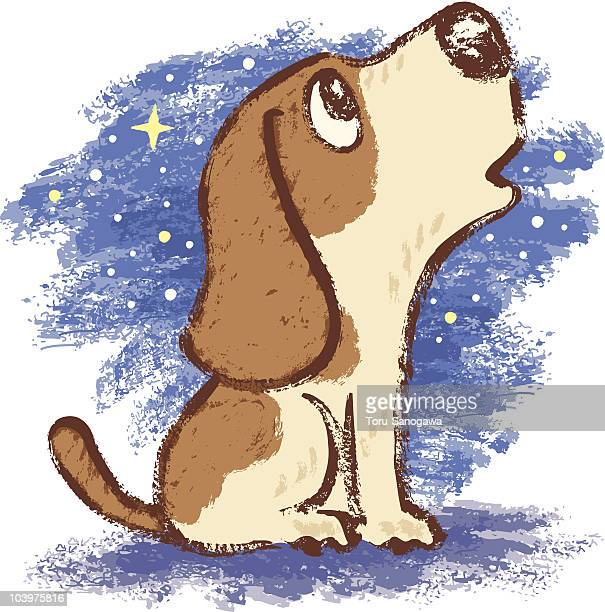 howl of hound - howling stock illustrations, clip art, cartoons, & icons