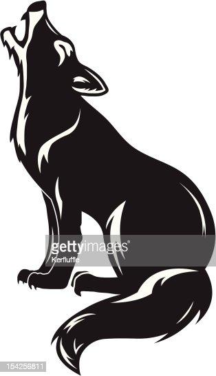 howling wolf vector art   thinkstock