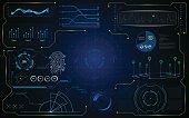 hud gui interface futuristic virtual system template