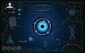 hud interface smart ui hi tech security progressing concept template