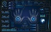 hud interface ui smart screen future hi tech concept background