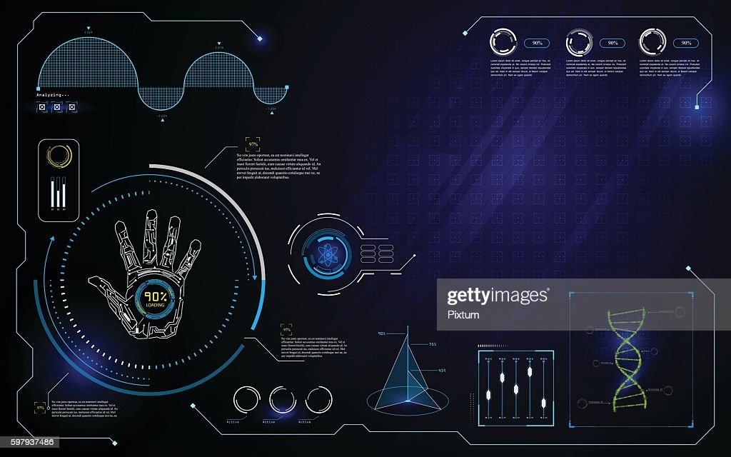 hud interface ui technology innovation computer concept design template background