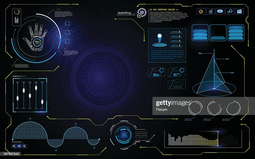 hud UI interface data computer technology screen concept background design