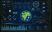 hud ui interface global virtual system hi tech futuristic concept
