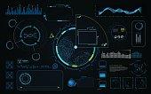 hud ui screen dashboard template hi tech sci fi concept