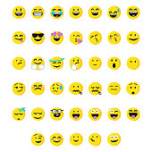 Huge collection of cartoony and cute emoticons