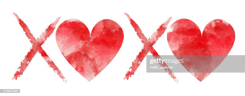 Xoxo Hugs And Kisses Vector Art Getty Images