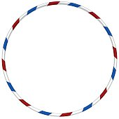Hula hoop with blue and red striped