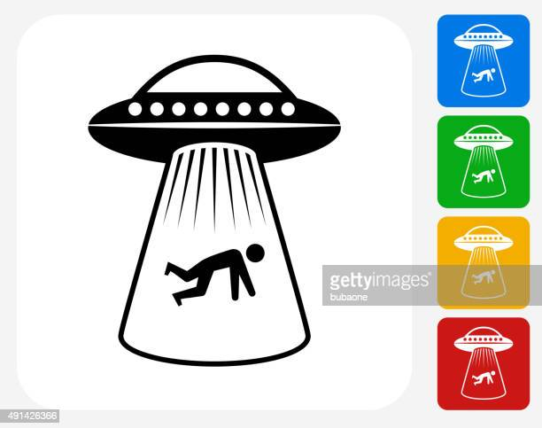 Human Abduction Icon Flat Graphic Design