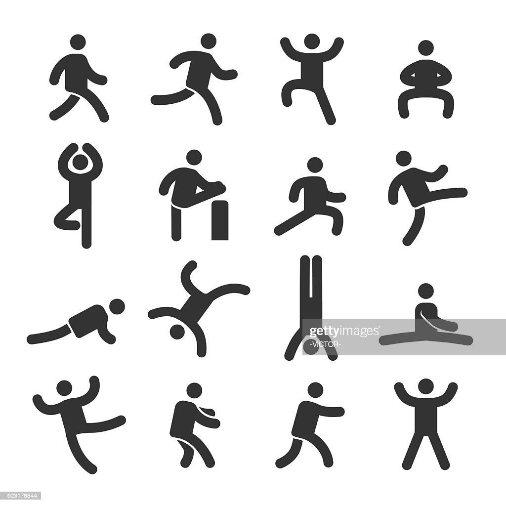 Human Action Icons Set - Acme Series