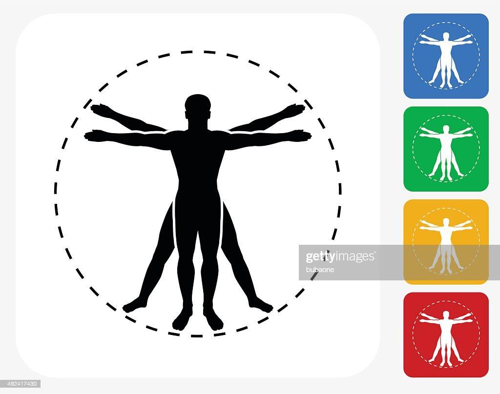 Menschliche Anatomiesymbol Flache Grafik Design Vektorgrafik | Getty ...
