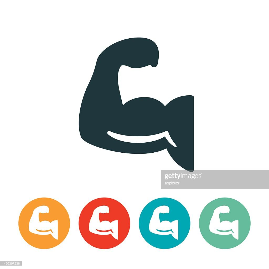 Human Arm Flexing Icon