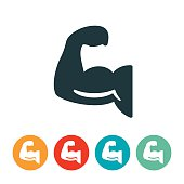 Human Arm Flexing Icon