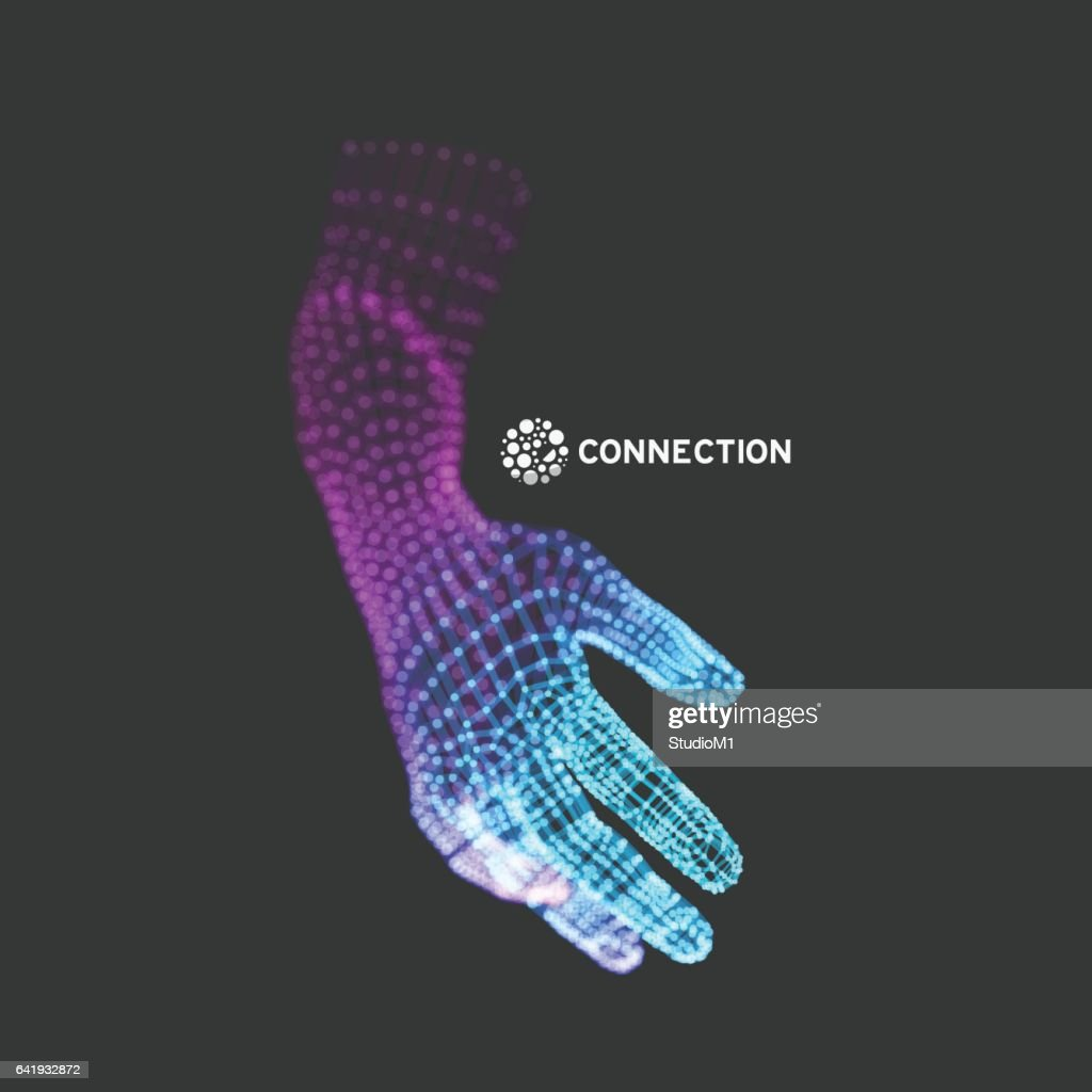 Human Arm. Hand Model.