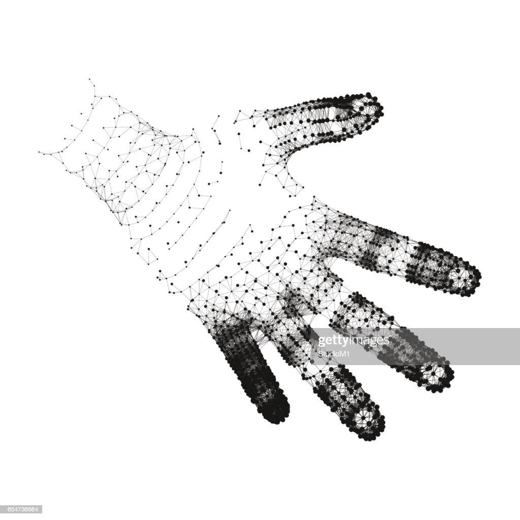 Human Arm. Human Hand Model.