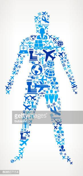 Human Body  Aviation and Air Planes Vector Graphic