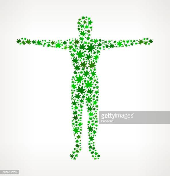 Human Body on Weed royalty free vector art Pattern