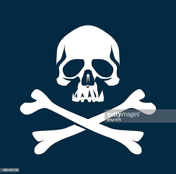 人間の骨格 - 海賊旗点のイラスト素材/クリップアート素材/マンガ素材/アイコン素材