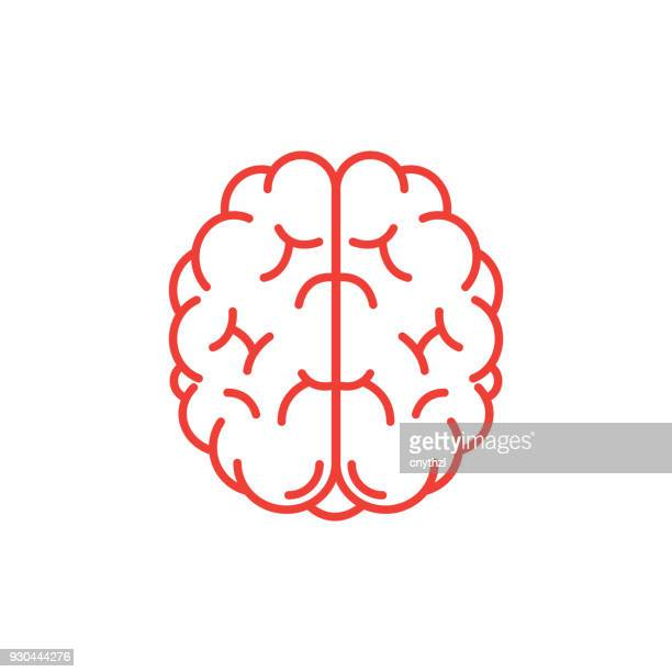 human brain icon - brain stock illustrations