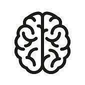 Human brain icon - vector
