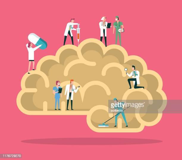 human brain - clinic stock illustrations