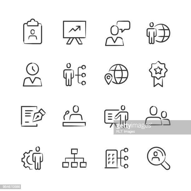 ilustraciones, imágenes clip art, dibujos animados e iconos de stock de capital humano — serie incompleta - firma