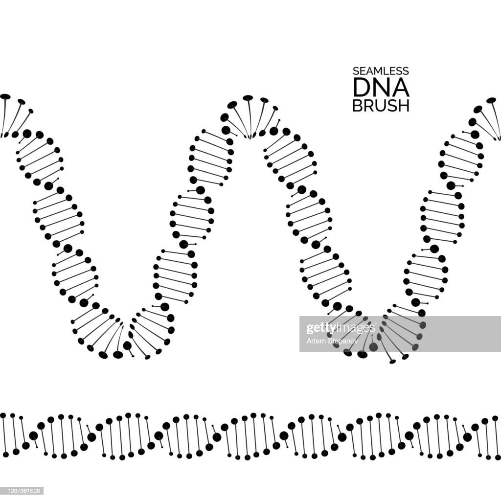 Human dna chain or genome helix molecule seamless lines