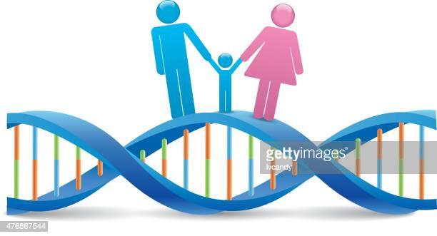 human dna - genetic modification stock illustrations, clip art, cartoons, & icons
