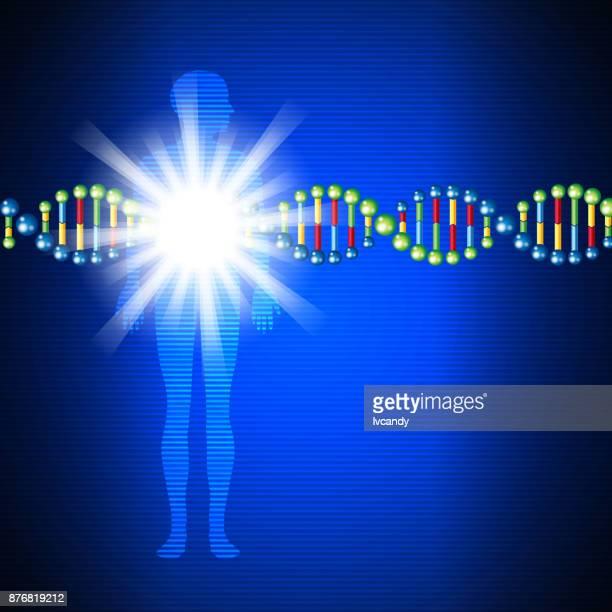human dna - genetic mutation stock illustrations