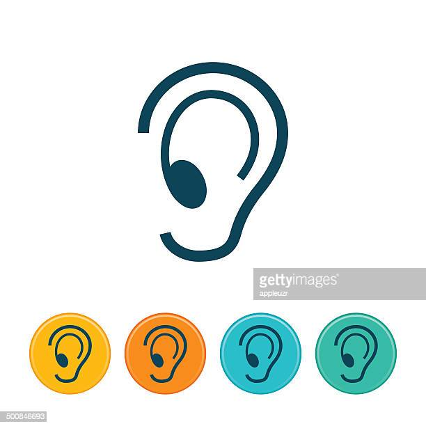 Human Ear Icon - Outlines