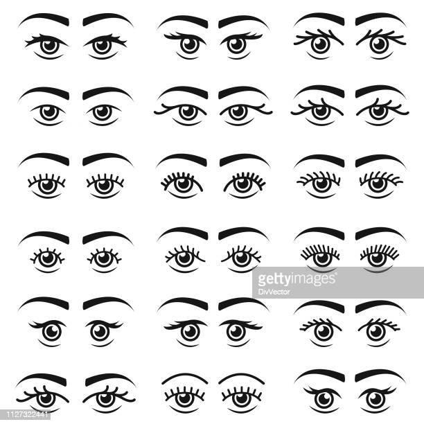 Human eye icon set