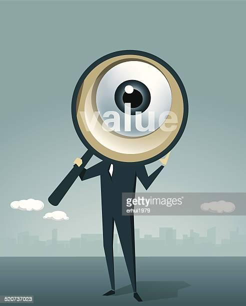 human eye, loupe, surveillance,detective, magnifying glass, human eye - inspector stock illustrations, clip art, cartoons, & icons