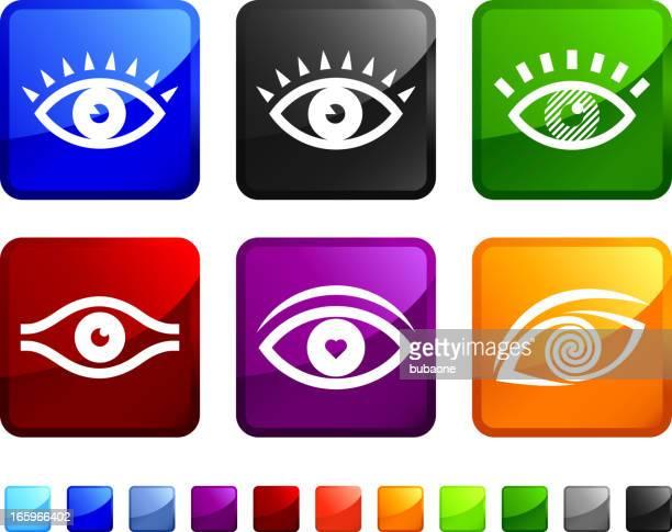 Olho humano arte vetorial royalty-free vector ícone conjunto autocolantes