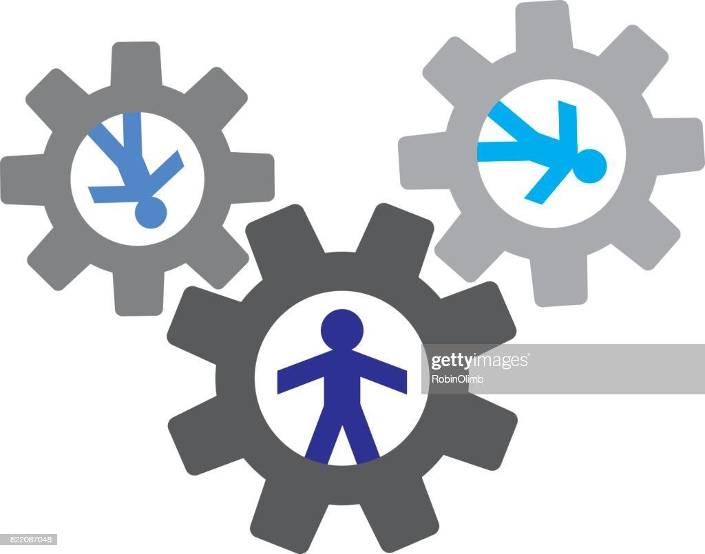 Human Figure Gears : stock illustration