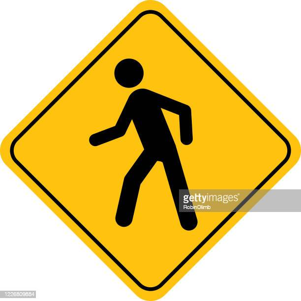 human figure walking street sign - pedestrian zone stock illustrations
