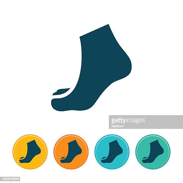 human foot icon - foot stock illustrations, clip art, cartoons, & icons