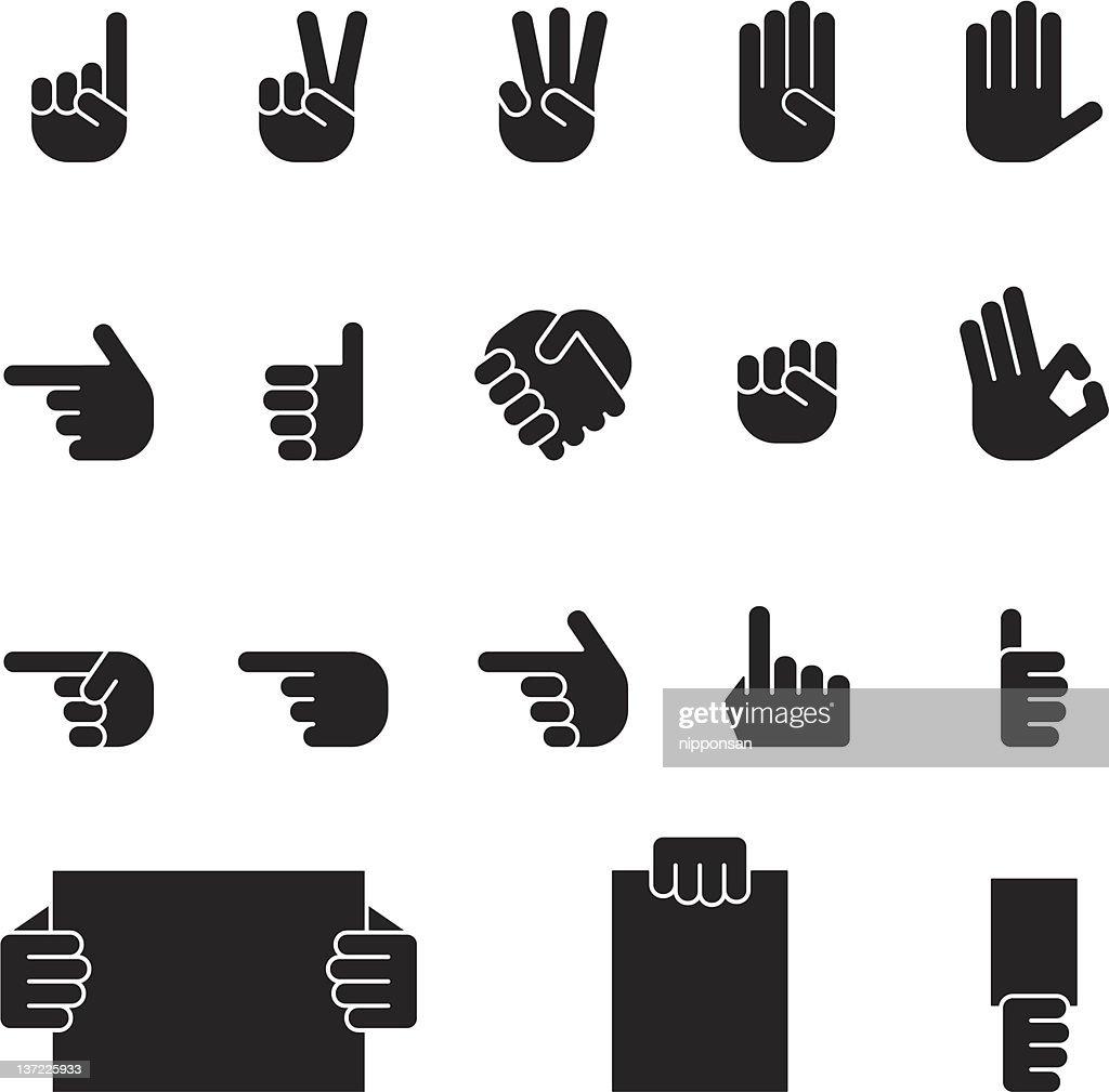 human hand icon set