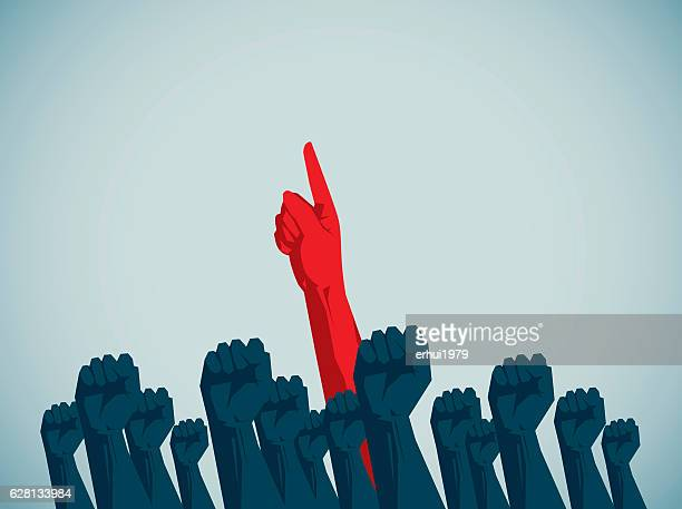 human hand - politics concept stock illustrations