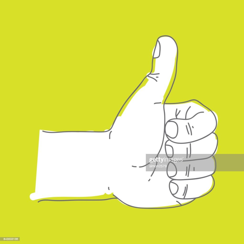 Human Hand with the thumb up : Stock Illustration