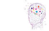 Human head and brain. Creation and idea concept