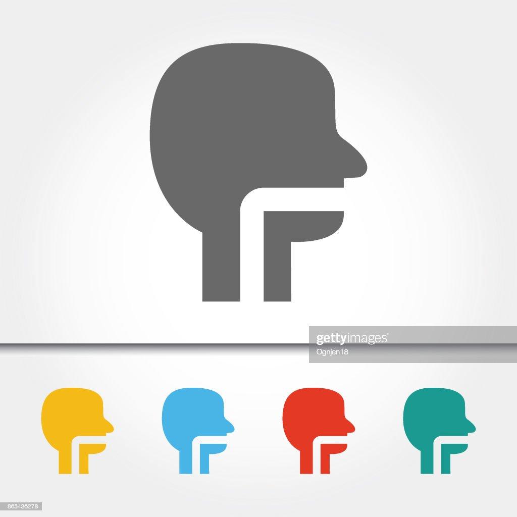 Menschlichen Kopf Und Hals Einzelnes Symbol Vektorillustration ...