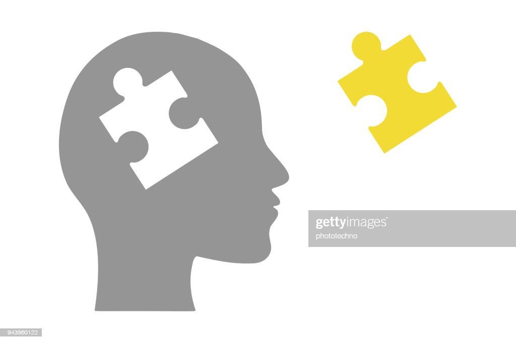 パズルの頭部 : ストックイラストレーション