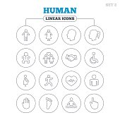 Human icons. Toddler and pregnant woman