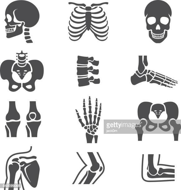 human joints icons set - marrom stock illustrations