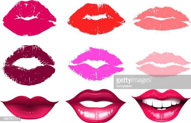 human lips set