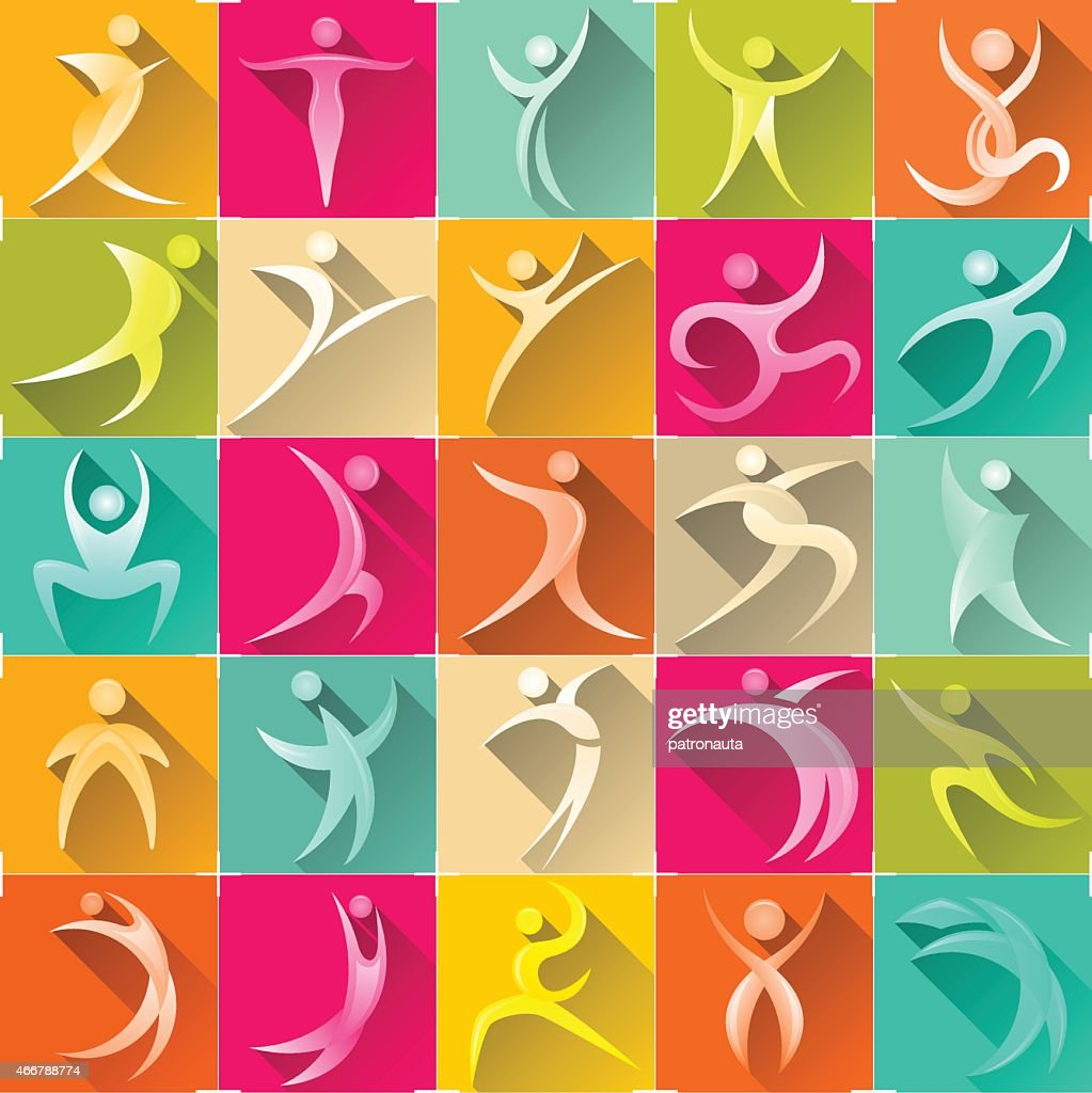 human logo set