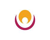 Human logo sign