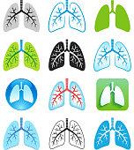 Human Lung Symbols