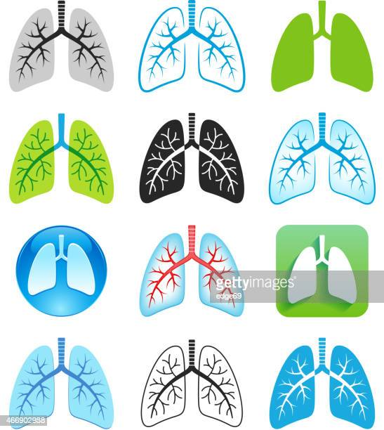 human lung symbols - lung stock illustrations